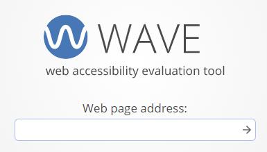 WAVE-palvelun osoitekenttä.